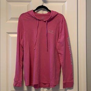 Woman's long sleeve, hooded, Vineyard Vines Shirt